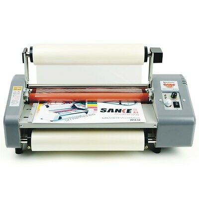 335mm A3 Four Rollers Hot Roll Laminator Laminating Machine Adjust Speed 220V Y