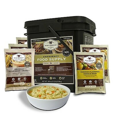 WISE 84 Serve MAINS & BREAKFAST Freeze Dried Emergency Prepper Food TUB