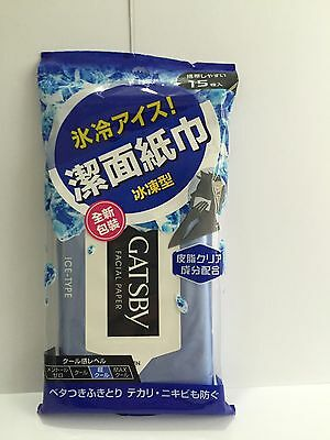 1 x Gatsby Facial Paper (Ice-Type) 15 sheets