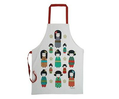 Kimono Doll 100% Cotton Apron Annabel Trends Excellent Japan Mothers Day
