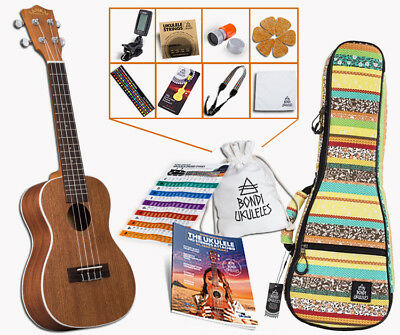 Lanikai LU-21C Concert Ukulele Tribal BUNDLE LU21C. RRP $295. Huge Deal, Buy Now