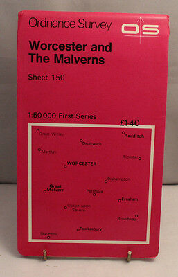 Ordnance Survey 1:50,000 Map - Worcester & The Malverns - Sheet 150 - 1974