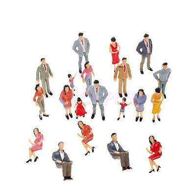 20pcs New Painted Model Train Passenger People Figures Various Pose Scale 1:25