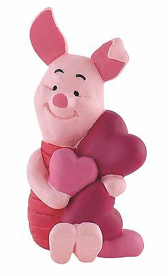 Winnie The Pooh Piglet with Hearts Figurine –Disney Bullyland Figure Cake Topper