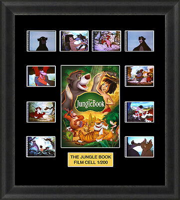 Disney the Jungle Book 1967 Framed 35mm Film Cell Memorabilia Filmcells Movie