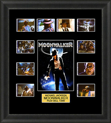 Michael Jackson Moonwalker 1988 Framed 35mm Film Cell Memorabilia Filmcells