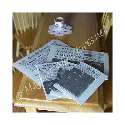 Doll House 12th Scale : Period Event Newspapers