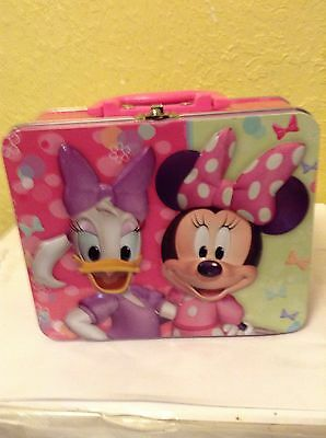 Mini Mouse & Daisy Duck Metal Lunch Box Disneyana Collectibles Lunchboxes