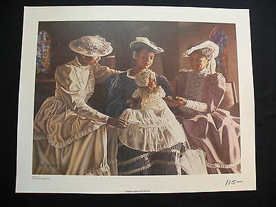 Melinda BYERS Giclee Oil Painting Canvas African American THE FOURTH GENERATION