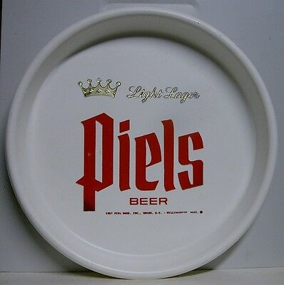"1967 Piels Light Lager Beer 13"" Plastic Tray - Brooklyn, NY"