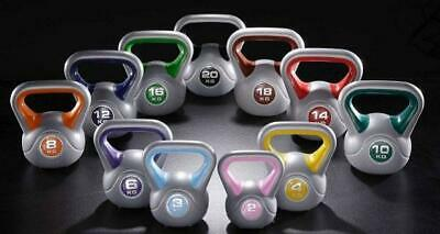 Fitness Direct Vinyl Kettlebells dumbbell Weight Strength Training Gym 2kg TO 20