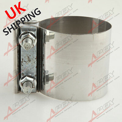 "3"" Stainless steel 3 inch Exhaust Flat Band Clamp UK"