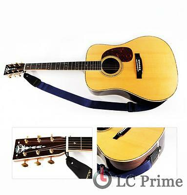 PU Leather End Thick Nylon Adjustable Electric Acoustic Guitar Bass Strap Belt