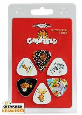 GARFIELD Plektren Set Plektrum Picks Pleks Plektra Plektron Gitarre