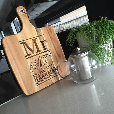 Personalised Cutting Chopping Serving Board Design 13 Wedding Gift House Warming