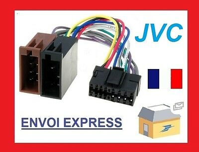 CABLE ISO ADAPTATEUR AUTORADIO JVC 16 PIN COMPLET QUALITE SUPERIEURE NEUF 16pin