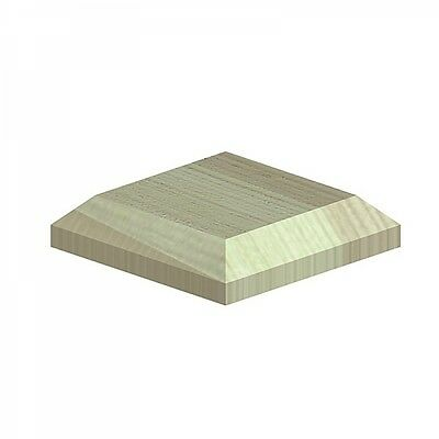 "100mm Square Green Treated Wood Decking Fence Post Caps for 3"" posts"