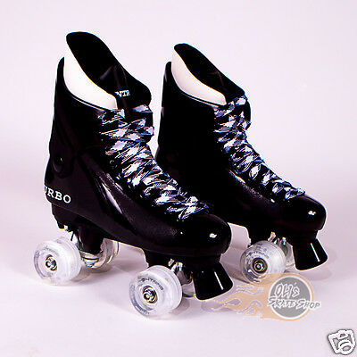Flashing Ventro Pro Turbo Quad Roller Skate, Bauer Style - Light Up Wheels Disco