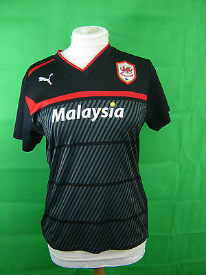 Cardiff City Fc Shirt Short  Sleeves Puma Make Size 12 Black Away Shirt