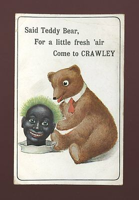 Sussex CRAWLEY Childrens Toys TEDDY BEAR 1910 PPC some creasing