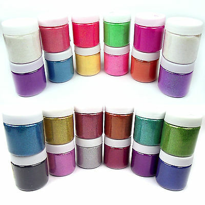 Set of 24 Iridescent and Holographic Premium Fine Glitter Shakers! 100ml Pots!