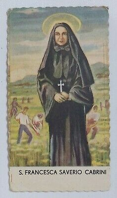 06282 Holy card - Santino 0043 - S. Francesca Saverio Cabrini - cm. 6 x 12