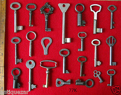 Fine GENUINE Lot Antique Vintage Old Skeleton Keys - More Rare Key Sets Here