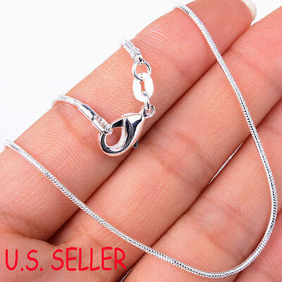 67c2b2f3208 925 Sterling Silver Nickle/Lead-FREE 1.2mm Thin Snake Chain Necklace 16~