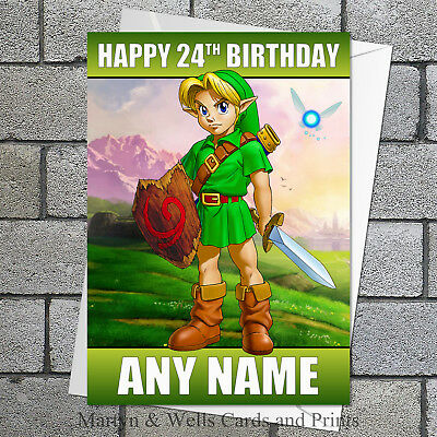 Zelda Birthday Card Princess Zelda Personalised With Envelope