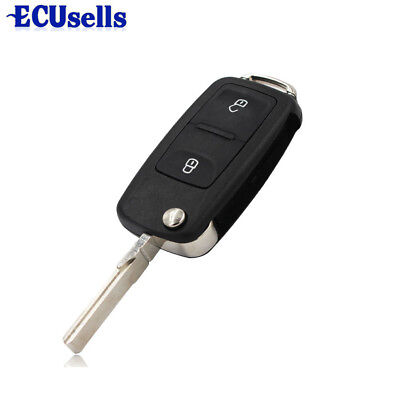 Fit for VW Polo GOLF MK6 Touareg 2 Button Remote Key Fob Shell Case Uncut Blade