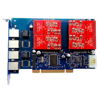 Analog Card TDM410P 4 Port FXO Card FXS Card Asterisk Card PCI tdm400p FreePBX