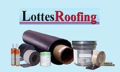 EPDM Rubber SEAMLESS Roofing Kit COMPLETE - 1,200 sq.ft. BY THE LOTTES COMPANIES