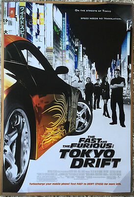 THE FAST AND THE FURIOUS TOKYO DRIFT MOVIE POSTER DS ORIGINAL FINAL US 27x40