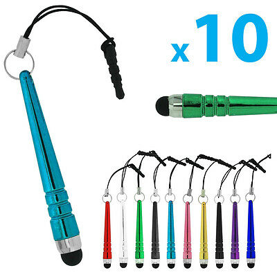 10x Mini Universal Capacitive Touch Screen Stylus Pen for iPhone iPad Tablet
