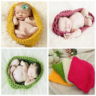 Newborn Baby Infant Cocoon Bag Crochet Costume Photography Prop Outfits Unisex