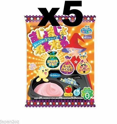 5x KRACIE POPIN COOKIN WITCH NERUNERU KIT. DIY Japanese Candy Poppin Cooking