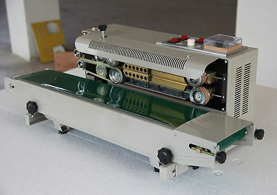 Automatic Continuous Plastic Bag Band Sealing Machine w/ Date Code Sealer 220V Y