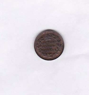 1902 Edward Vii Third Farthing In Near Mint Condition With Original Lustre