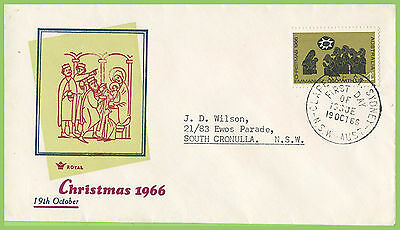 Australia 1966 Christmas 4c issue on Royal First Day Cover Sydney h/s
