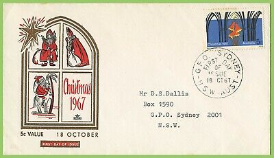 Australia 1967 Christmas 5c issue on Royal First Day Cover Sydney Cancel