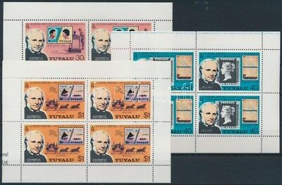 Tuvalu stamp Rowland Hill mini sheet set 1979 MNH Mi 109-111 WS181406
