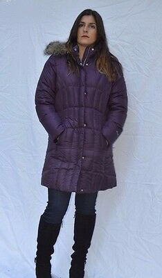 Women's Eddie Bauer Lodge Down Parka Eggplant NWT Goose Purple NWOT