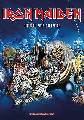 Iron Maiden Official Large Uk Wall Calendar 2016 New And Factory Sealed