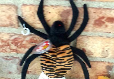 Ty Beanie Baby Spinner the Spider Halloween Plush 1996 PE Pellets 4036 MWMT