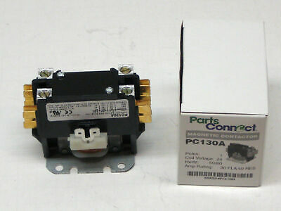 PC130A Single One 1 Pole 30 Amps 24 Volts A/C Contactor