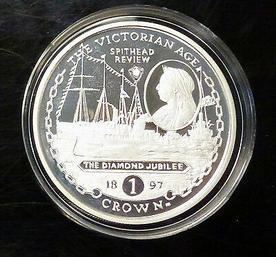 2001 Gibraltar 1 CROWN The Diamond Jubilee w/ DIAMOND   Proof like