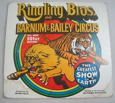 Vintage Ringling Brothers & Barnum Bailey Circus Poster 101st Edition Tiger Lion