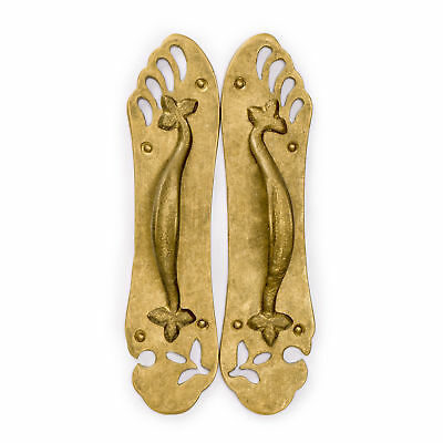 "CBH Chinese SANDAL Brass Hardware Door Pull 8.7"" x 2.2"""