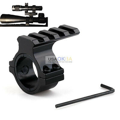 Barrel Mount 30mm 1'' Ring Scope Picatinny Rail Adapter For 12 Gauge Shot Gun