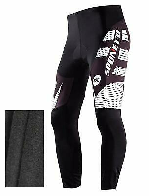 Thermal Fleece Warm Cycling Pants Winter Men Bicycling Apparel GEL Padded Tights